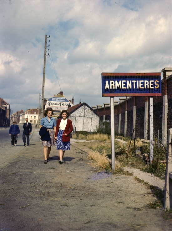 Two Girls from Armentières, France. (1943) - Canada. Department of National Defence / Library and Archives Canada
